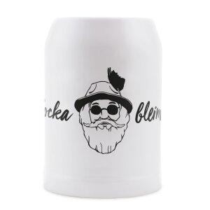 Du Hirsch - Bayerischer Onlineshop - Gschichtn - Bayerische Bierkrüge - Locka bleim!