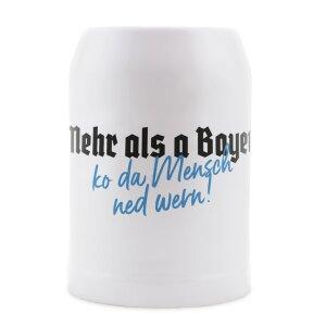 Du Hirsch - Bayerischer Onlineshop - Gschichtn - Bayerische Bierkrüge - Mehr als a Bayer ko da Mensch ned wern